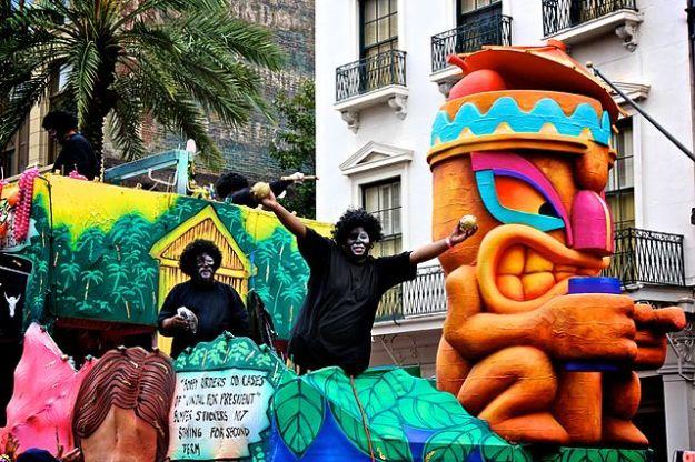 """Mardi Gras 2011 Zulus We Got Cocoanuts"" by Brad Coy - Flickr: Mardi Gras 2011. Licensed under CC BY 2.0 via Wikimedia Commons http://goo.gl/y7DVwE"